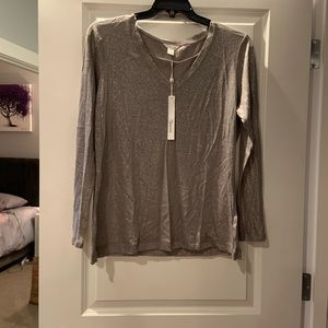 Caslon Grey and Silver Sparkle Long Sleeve Tee